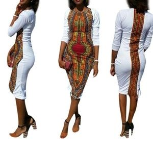 Never Worn: fitted print dress
